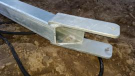 Kantelbare Gegalvaniseerde zware stalen mast & led schijnwerper 120 watt