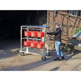 Growi emmerwagen met 12 emmers