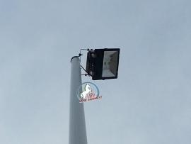 Kantelbare mast Aluminium & led schijnwerper 120 watt