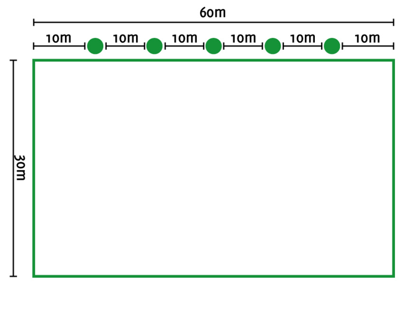 Lichtplan D rijbak 20/30x60 mtr