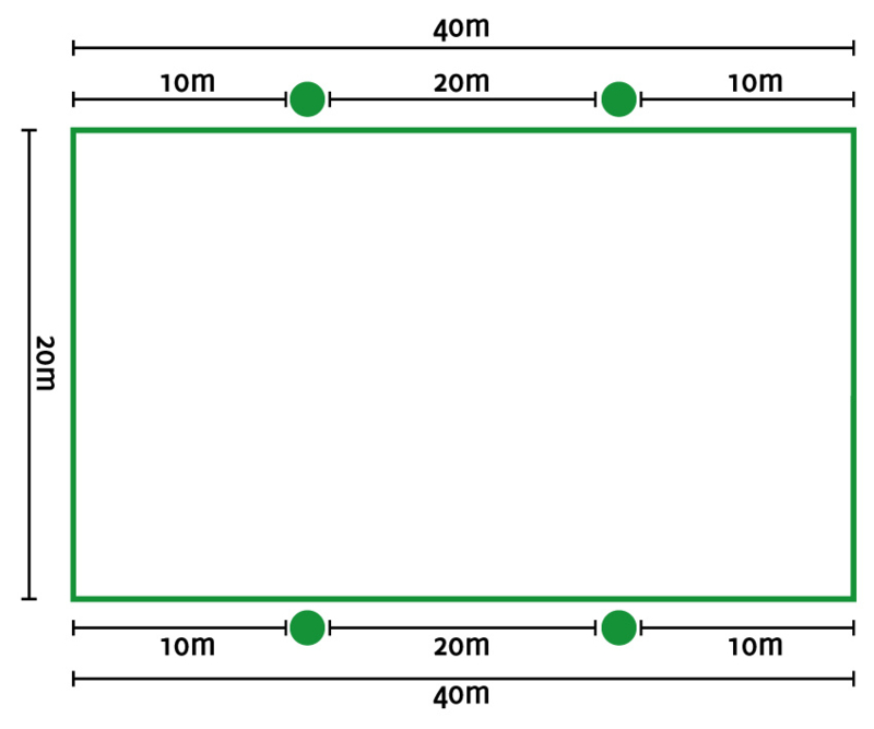 Lichtplan C rijbak 20x40 mtr