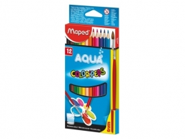 Kleurpotlood Color'Peps Aquarel Maped (12 potloden + gratis penseel) (M1/2).