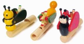 Muziekinstrument houten fluit dieren {L7273/W2/6} OP=OP