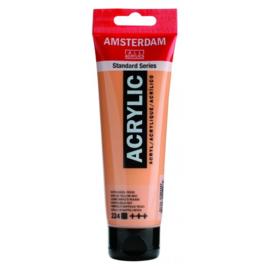 224 Amsterdam acryl napelsgeel roodachtig