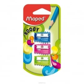 Puntenslijper Boogy Maped 1-gaats  op blister x 3 (M2/3)