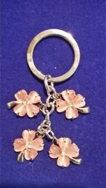 Sleutelhanger roze bloem {MS9/1/6}