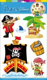 Muurstickers/Decoratiestickers piraten {L4081/1/3}