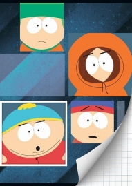 South Park Schrift A4 ruit 15-16  *3/3*