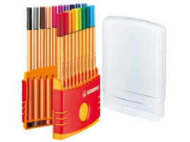 Fineliner Stabilo Point 88 20stuks Assorti Colorparade *BK/1/2*