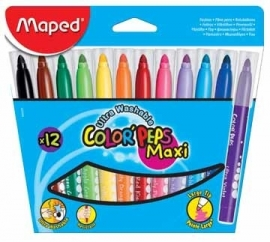 Viltstift Color'Peps Maxi Maped 12 stiften (M2/2)