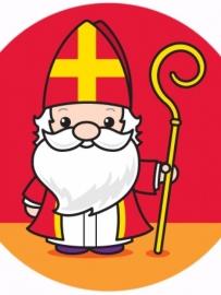 Sinterklaas kleur- en spelletjesboek met stickers [B0172]