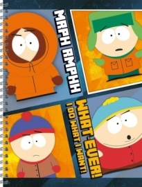 South Park Collegeblok A4 lijn 15-16  *3/3*