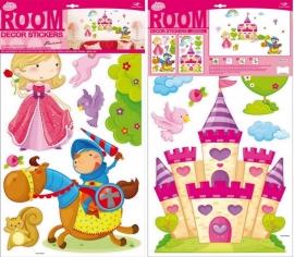 Muurstickers/Decoratiestickers kasteel, 15 stickers {L4091/1/3} OP=OP