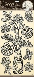 Muurstickers/Decoratiestickers Flora {L4089/1/3} OP=OP