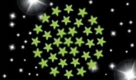 Glow in the dark stickers sterretjes 102 stuks {L5378/2/5}