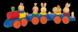 Houten trein met dieren WT9992 {W2/3} OP=OP