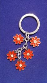 Sleutelhanger rode bloem {MS10/1/6}