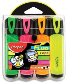 Markeerstift Fluo Pep's Maped 4 kleuren (M2/3)