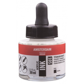 105 Amsterdam Acrylic Ink titaanwit