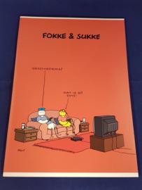 Fokke & Sukke Schrift A4 lijn  *2/3*