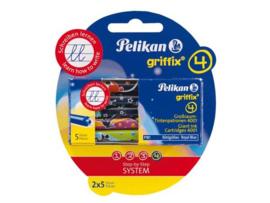 Pelikan Inktpatronen Griffix blauw *BK/1/2*