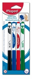 Whiteboardmarkers Marker Peps Maped assorti 4 kleuren (M1/1)