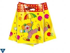 Partybag Clown 17x6 cm Haza, set van 10 stuks {2/5}
