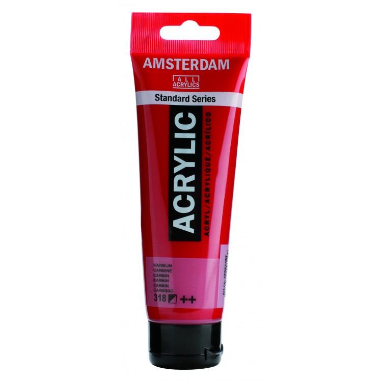 318 Amsterdam acryl karmijnrood