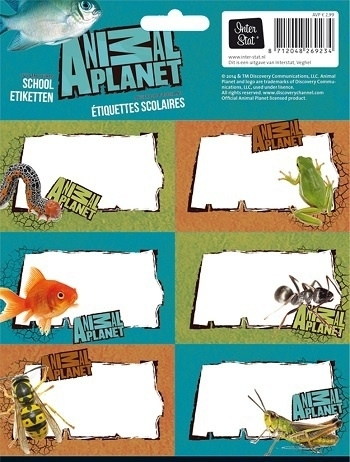 Animal Planet Schoollabels 14-15  *2/2*