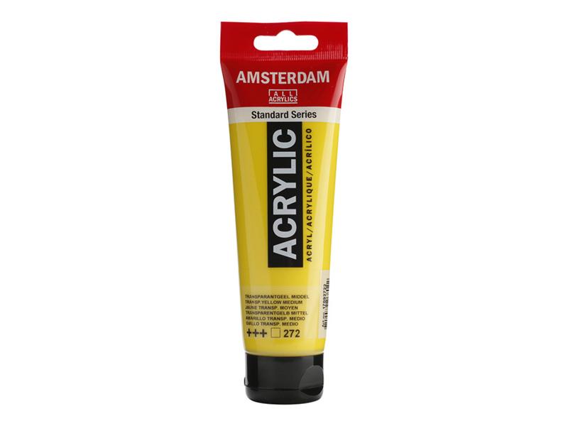 272 Amsterdam acryl transparant geel middel