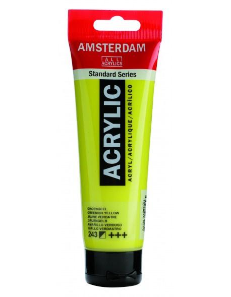 243 Amsterdam acryl groengeel