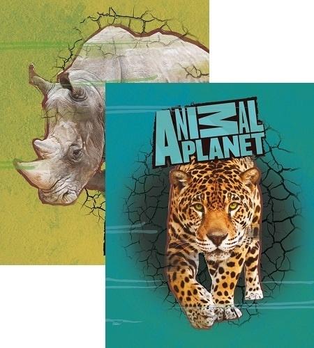 Animal Planet Schrift A5 lijn, set van 3 assorti 14-15  *2/2*