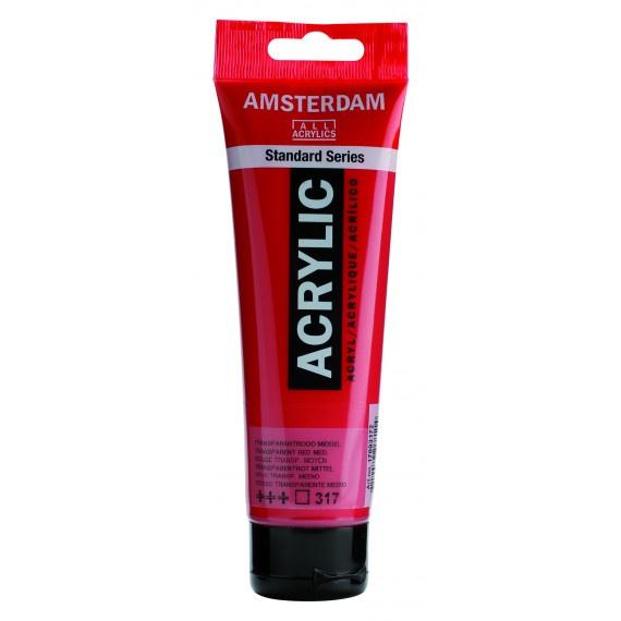 317 Amsterdam acryl transp.rood middel