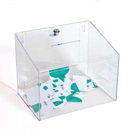 visitekaartjesverzamelbus transparant met slot