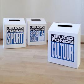 Donatiebox met eigen logo of opdruk - 5 stuks