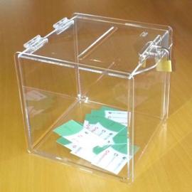 ideeënbus transparant met voorhangslot 20CM