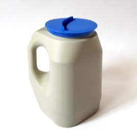 collectebus grijs met blauwe deksel - gebruikt