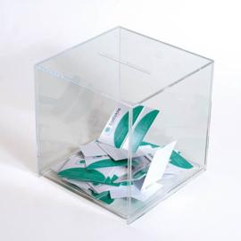 boîte à idées transparent 20 x 20 cm
