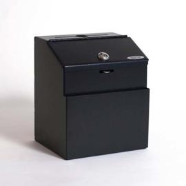 boîte à idées an métal noir