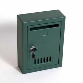 boîte postale parisienne vert