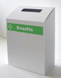 boîte à enquêtes vert