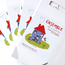 boîte à donations en carton avec logoprint