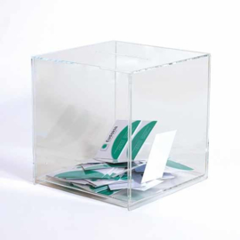Ideeënbus luxe transparant 20x20cm