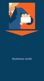 Visitekaartjes verzamelbus BC print en slot