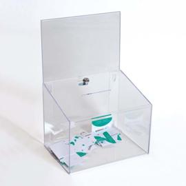 Boîtes à cartes de visite transperant avec étui et serrure