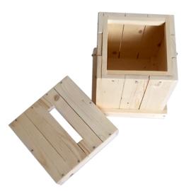 boîte à idées bois medium avec une serrure