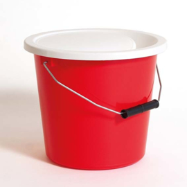 Seau à collectionner rouge