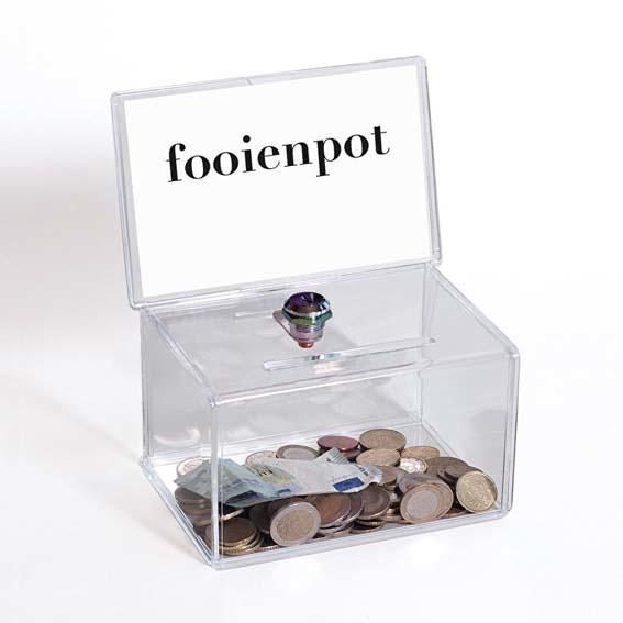 Fooienpot model FP01