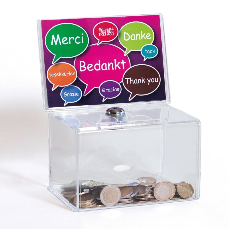 Donatiebox model 'Bedankt'