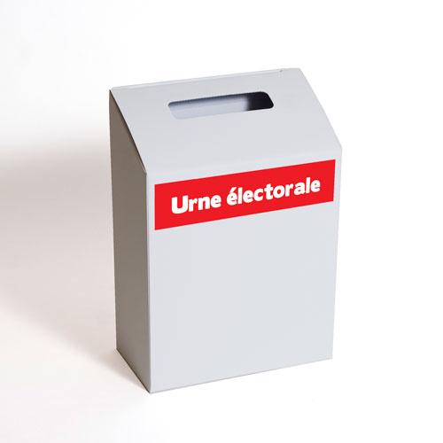 urne électorale carton rouge